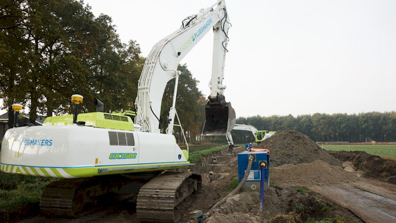 Vervanging transportleiding De Hutten